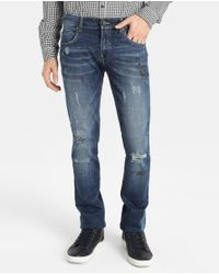 GREEN COAST | Blue Slim-fit Jeans for Men | Lyst