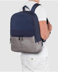 Tommy Hilfiger - Mens Navy Blue And Grey Zipped Backpack for Men - Lyst