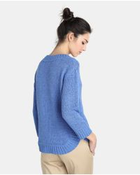 Zendra El Corte Inglés - Blue El Corte Inglés Zendra Sweater With French Sleeves And Cable Stitch - Lyst