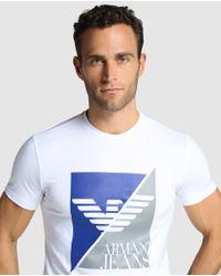 Armani Jeans - Short-sleeve White T-shirt for Men - Lyst