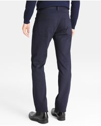 Armani - Regular-fit Blue Five-pocket Trousers for Men - Lyst
