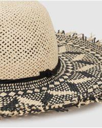 El Corte Inglés Natural Black And Beige Sun Hat