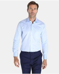 Mirto - Classic Plain Blue Shirt for Men - Lyst
