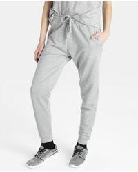 GREEN COAST - Gray Plush Jogging Trousers - Lyst