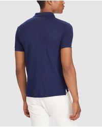 Polo Ralph Lauren - Blue Short Sleeved Slim-fit Polo Shirt for Men - Lyst