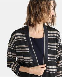 Zendra El Corte Inglés - Multicolor El Corte Inglés Zendra Striped Cardigan With French Sleeves - Lyst