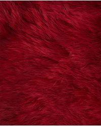 Jo & Mr. Joe - Red Fur Cowl - Lyst
