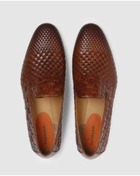 Saks Fifth Avenue - Magnani Brown Leather Moccasins for Men - Lyst
