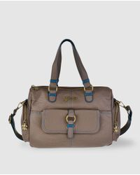 Caminatta | Brown Taupe Bowling Bag With A Detachable Strap | Lyst