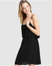 Green Coast - Black Layered Tank Dress - Lyst