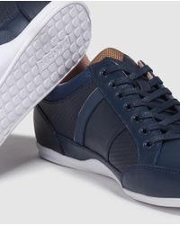 Lacoste - Blue Sneakers With Logo for Men - Lyst