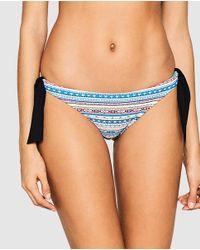 Esprit - Blue Printed Tie Bikini Bottoms - Lyst