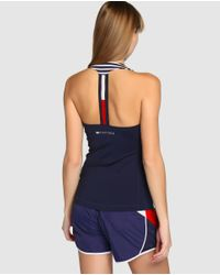 Tommy Hilfiger - Navy Blue Racerback T-shirt - Lyst
