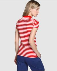 Tommy Hilfiger | Red Short Sleeve Striped Polo Shirt | Lyst