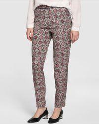 Zendra El Corte Inglés - Multicolor El Corte Inglés Zendra Skinny Trousers With Mosaic Print - Lyst