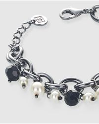 Gloria Ortiz - Multicolor Black And White Bracelet With Pearls - Lyst