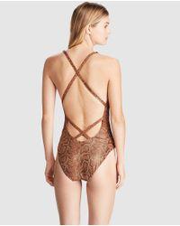 Polo Ralph Lauren - Brown Printed Bathing Suit - Lyst