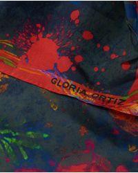 Gloria Ortiz - Blue Multicoloured Printed Silk Handkerchief - Lyst