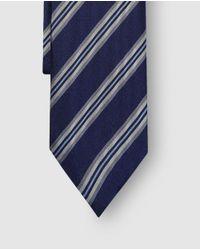 Mirto - Blue Striped Silk Tie for Men - Lyst