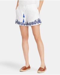 Lauren by Ralph Lauren - White Shorts With Embroidery - Lyst