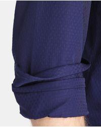 Armani - Regular-fit Plain Blue Shirt for Men - Lyst