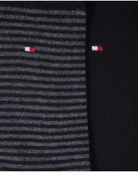Tommy Hilfiger - Black Pack Of Two Pairs Of Plain And Finely Striped Socks for Men - Lyst