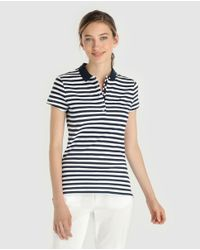 Tommy Hilfiger - Multicolor Short Sleeve Striped Polo Shirt - Lyst