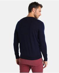Polo Ralph Lauren - Blue V-neck Merino Wool Sweater for Men - Lyst