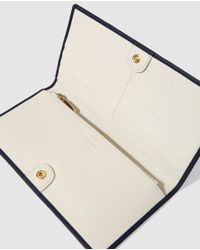Georges Rech | Navy Blue Leather Wallet With Clasp Fastening | Lyst