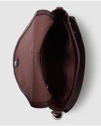 Gloria Ortiz - Cayetana Purple Leather Shoulder Bag With Magnet - Lyst