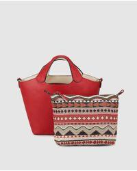 0b39fac298 Lyst - El Corte Inglés Small Red Handbag With Removable Toiletry Bag ...