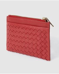 Gloria Ortiz - Red Purse With Zip And Plaiting - Lyst