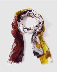 Gloria Ortiz - Multicolor Multicolour Painted Wool Foulard - Lyst