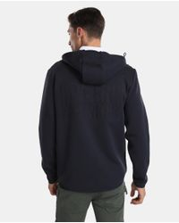 Armani Exchange Blue Casual Jacket With Hood for men