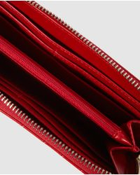 El Corte Inglés - Wo Large Red Wallet With Zip - Lyst