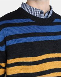 GREEN COAST - Blue Round-neck Sweater for Men - Lyst