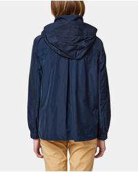 Esprit - Navy Blue Hooded Parka - Lyst