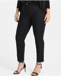 Couchel - Black Plus Size Technical-style Skinny Trousers - Lyst