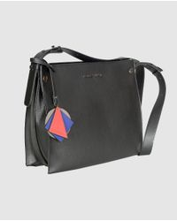 Robert Pietri - Wo Black Crossbody Bag With Granulated Effect - Lyst