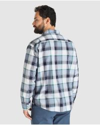 Tommy Hilfiger - Blue Big And Tall Classic-fit Checked Shirt for Men - Lyst