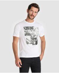 Emporio Armani - White Short Sleeve T-shirt for Men - Lyst