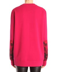 Givenchy - Pink Felpa Girocollo In Cotone Con Stampa Madonna - Lyst