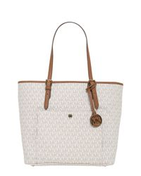 ddd5d49df1 MICHAEL Michael Kors. Women's Natural Borsa Tote Lare Jet Set Item In Pelle  Logata