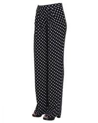 MICHAEL Michael Kors - Black Macro-dot Print Trousers With Darts - Lyst