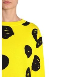 Jeremy Scott - Yellow Jacquard Cotton Jumper - Lyst