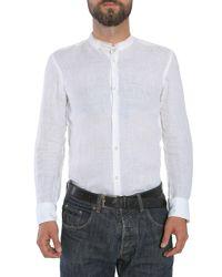 """BOSS - White Slim Fit """"rab_f"""" Linen Shirt for Men - Lyst"""