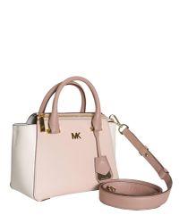 MICHAEL Michael Kors - Pink Nolita Mini Leather Messenger Bag - Lyst