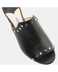 Jimmy Choo - Black Myla 65 Studded Leather Mule - Lyst