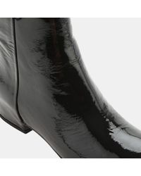 Aquatalia - Black Uri Patent Leather Wedge Bootie - Lyst