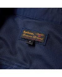 Barbour - Blue Heritage Hoad Overshirt Jacket for Men - Lyst